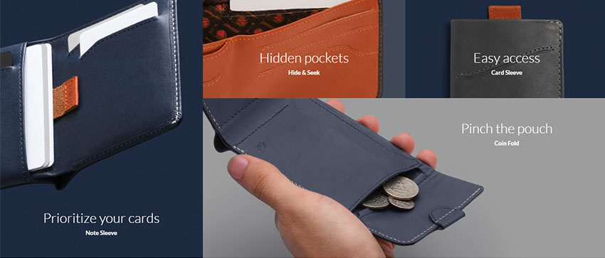 This beautiful wallet stays slim regardless of your many credit cards!