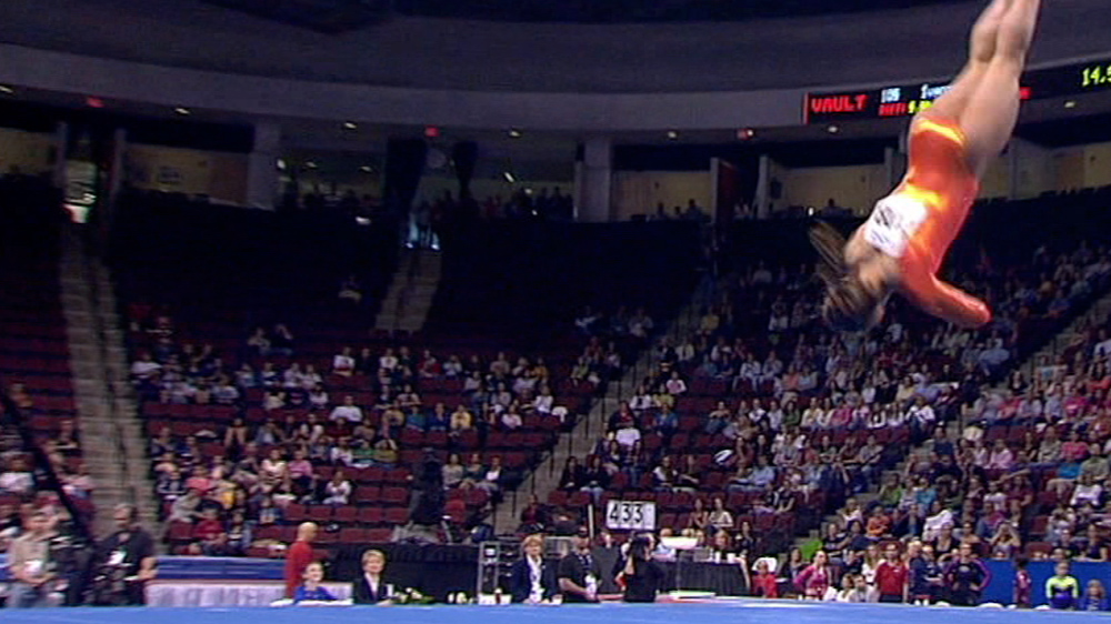 How do they do that the physics behind olympic gymnastics for Used gymnastics spring floor