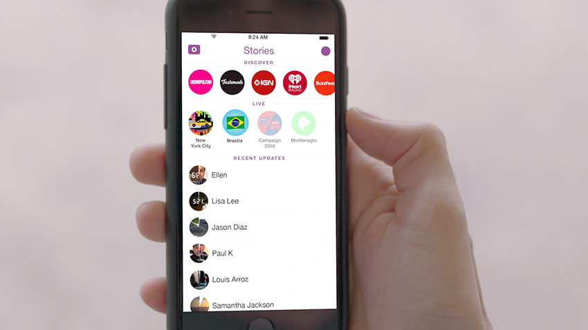 Snapchat's original UI is not very intuitive, which scared users and brands away.