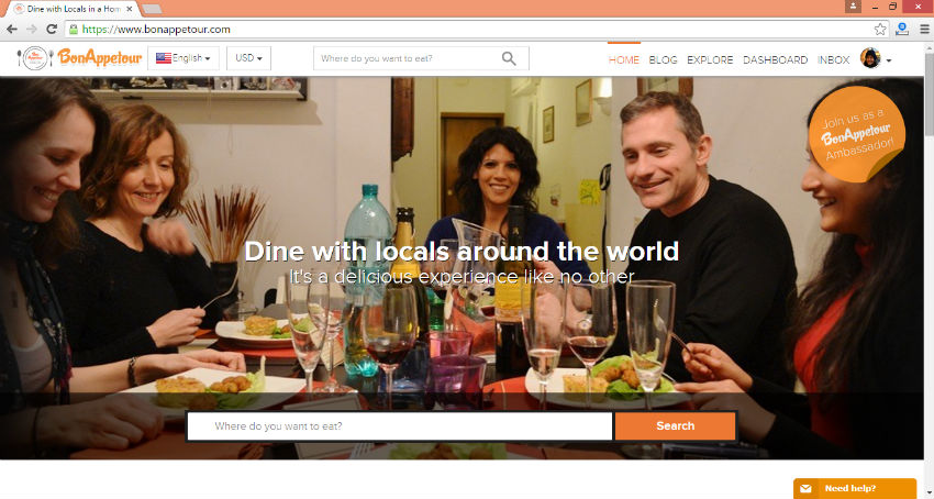 BonAppetour links hosts and people looking for a local dining experience: Image Source: British Corner Shop